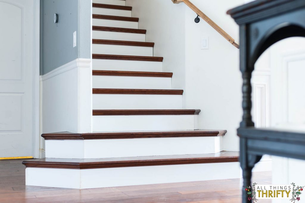 Stair Tread Makeover
