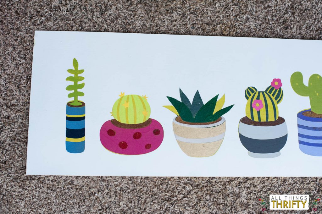 cacti picture with batik instructions
