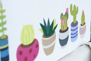 Spray Paint Batik Cacti Art Instructions {Indonesia Batik Inspired}