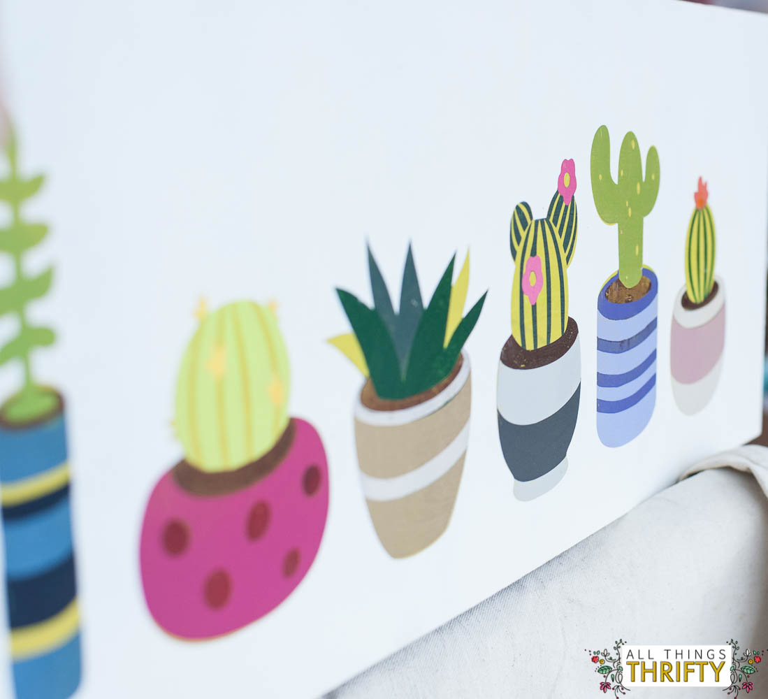 cacti picture with spray paint instructions