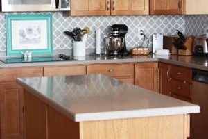 vinyl backsplash