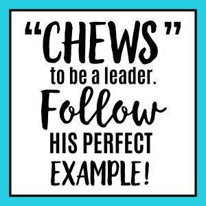Chews to be a leader blue