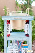 Rolling Outdoor Drink Station