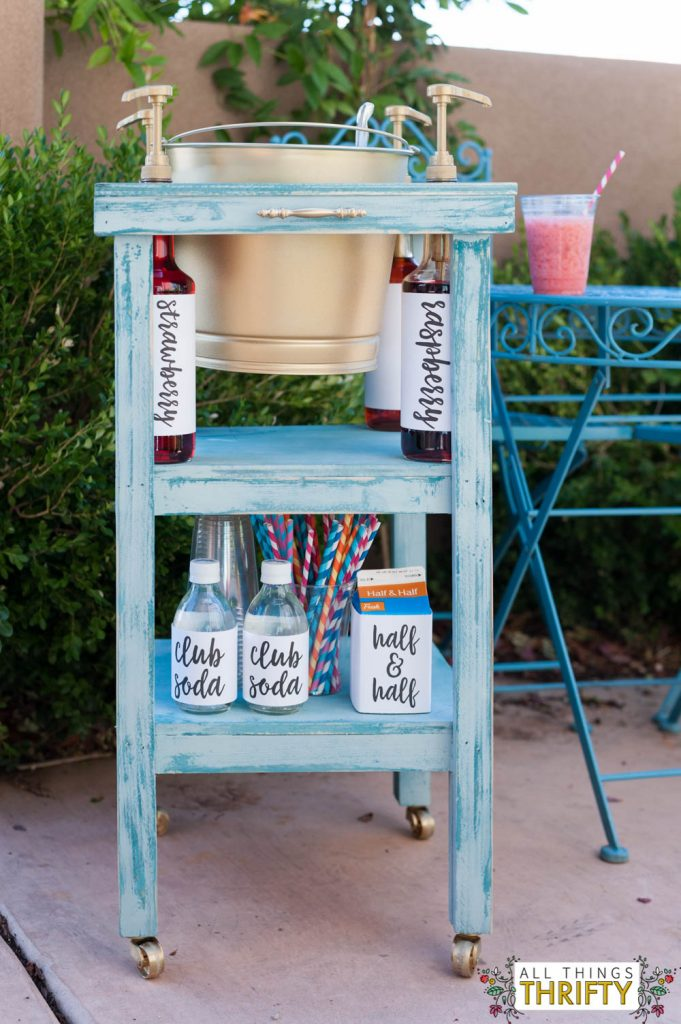 Rolling Outdoor Italian Ice Cart-22