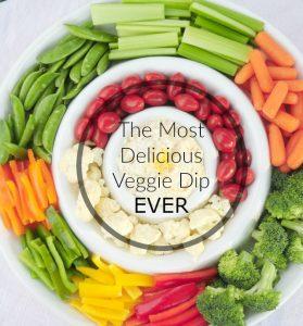 delicious veggie dip title