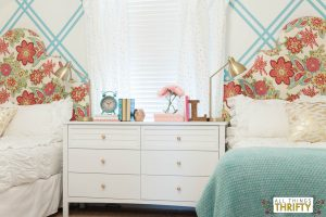 Girls' Tween Bedroom Ideas Pink and Turquoise and Gold-6