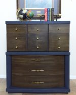 Midcentury Dresser Makeover–Painting Laminate