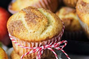 Banana Apple Muffins are a quick & easy muffin recipe using bananas, loaded with apples & topped with cinnamon & sugar.