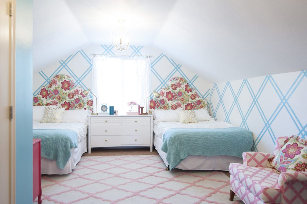 Girls Bedroom Ideas with Slanted Ceilings