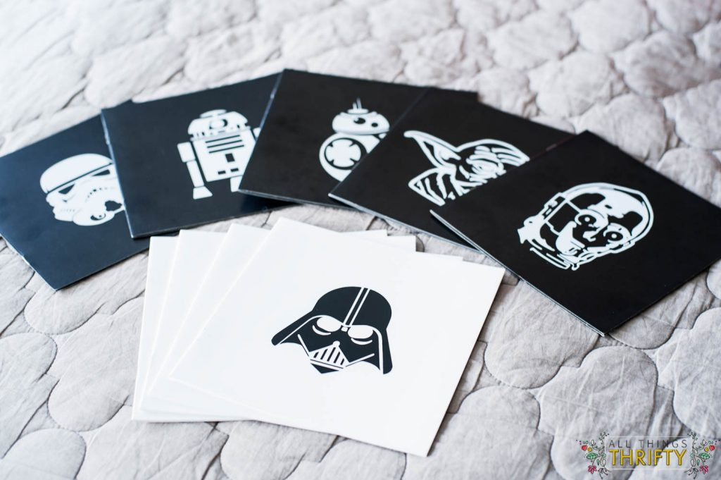 star wars diy notebooks made with vinyl
