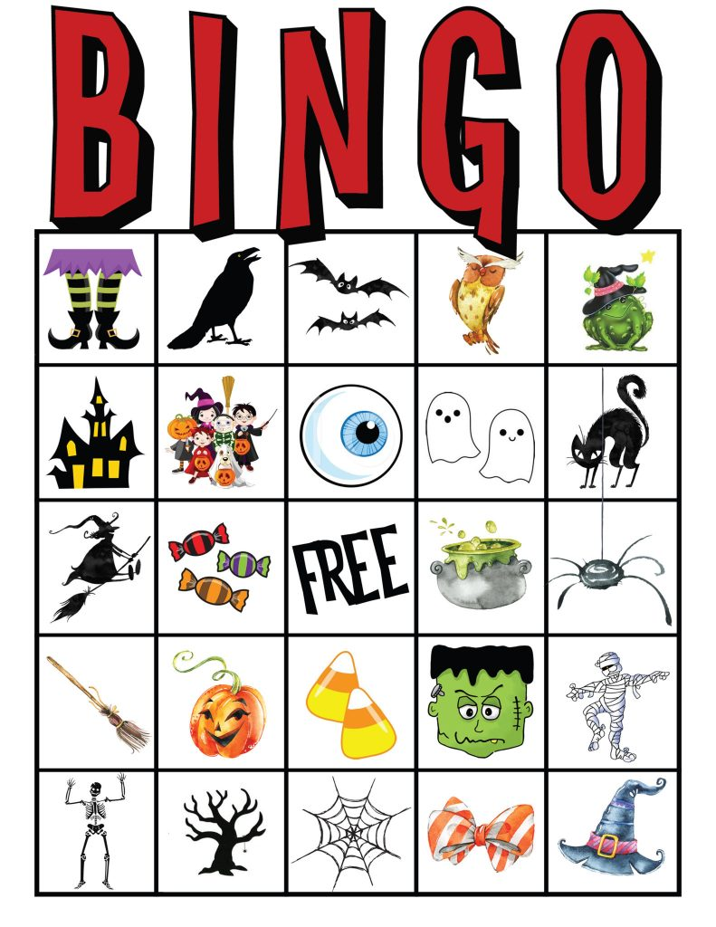 It's just a picture of Sly Free Printable Halloween Bingo Cards