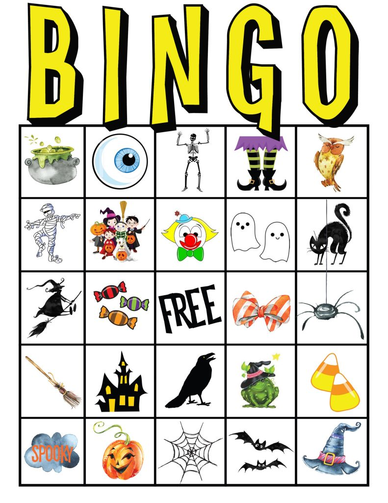 kids halloween party bingo cards free printable all things thrifty