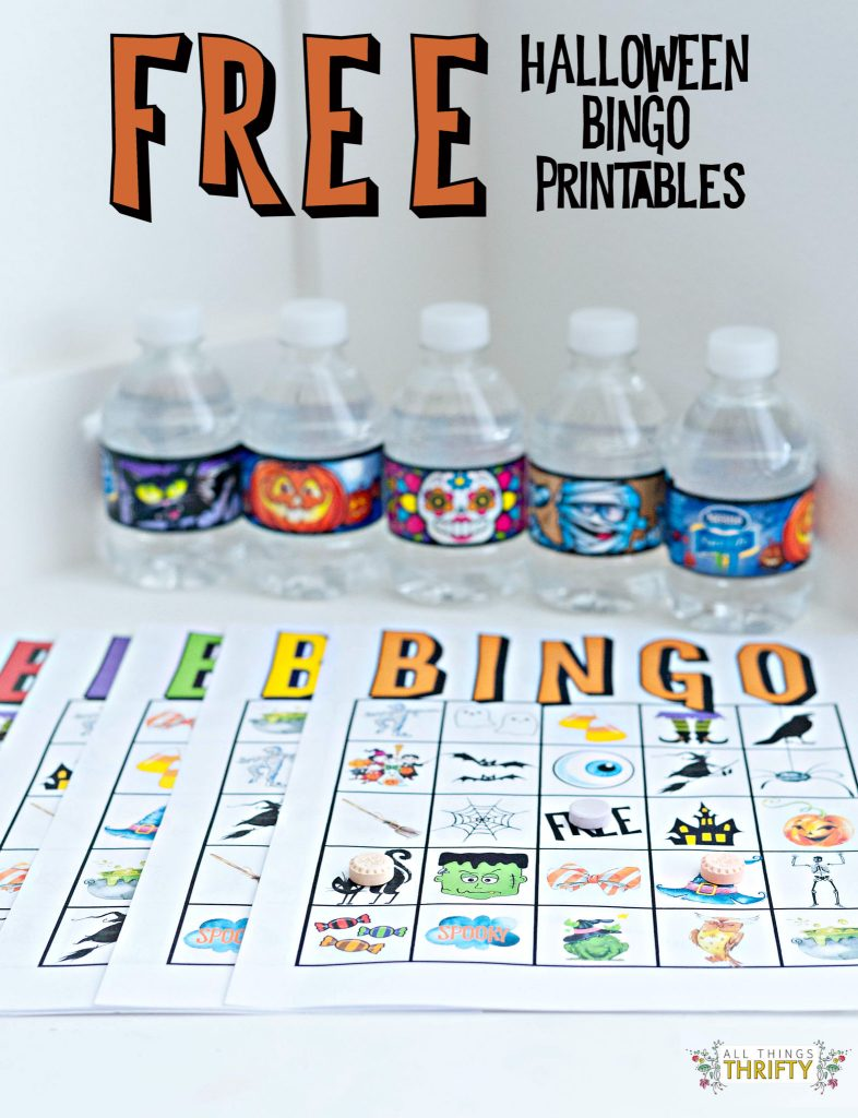 photograph regarding Free Printable Halloween Bingo referred to as Young children Halloween Occasion BINGO Playing cards Totally free PRINTABLE All Elements