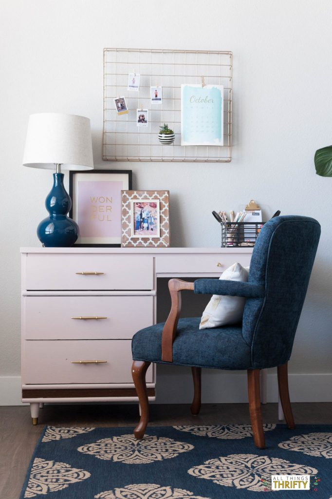Navy Pink Gold White And Grey Living Room Sources All Things Thrifty