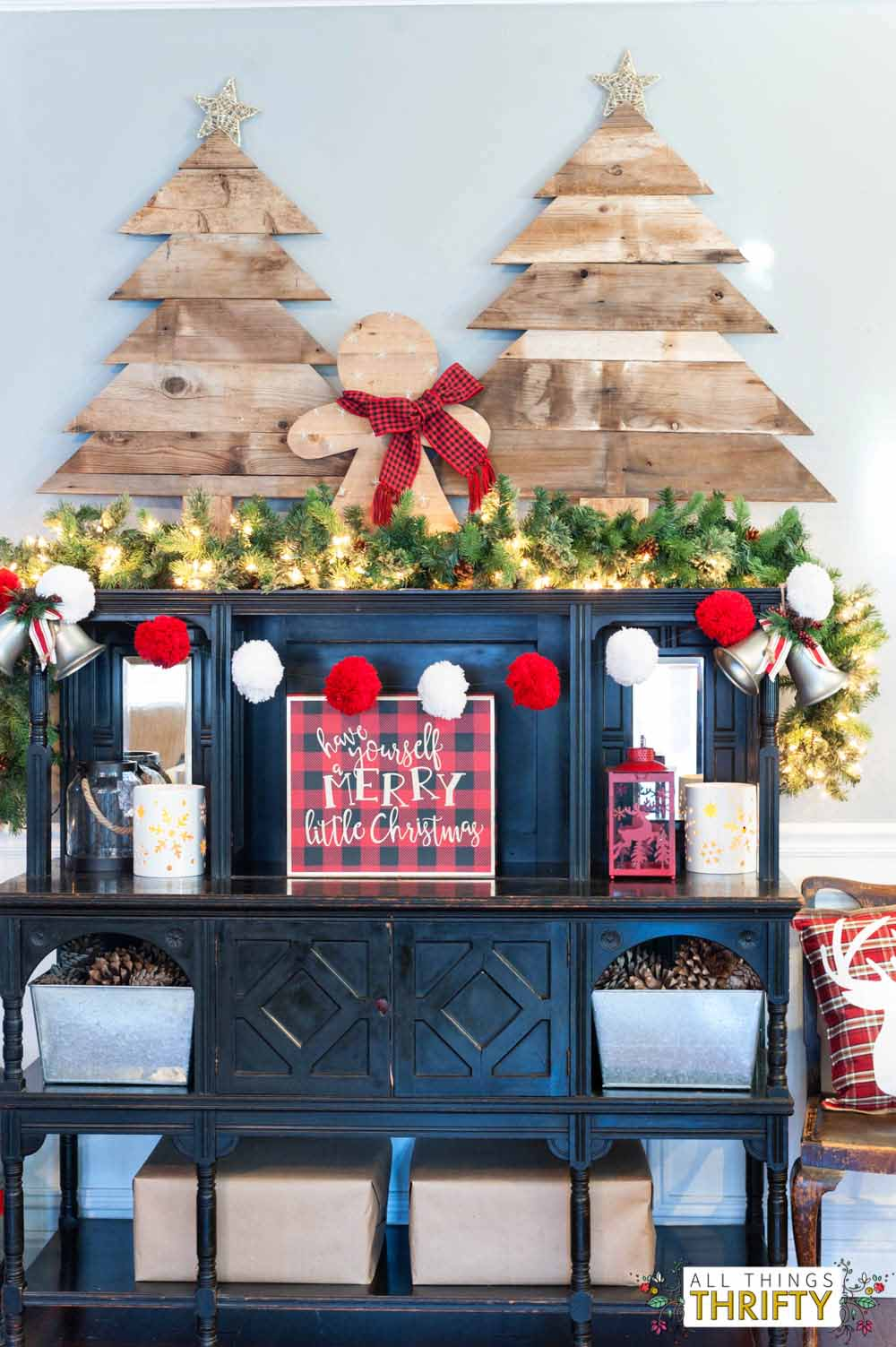 Picture of: Adorable Diy Plaid And Burlap Christmas Pillow All Things Thrifty