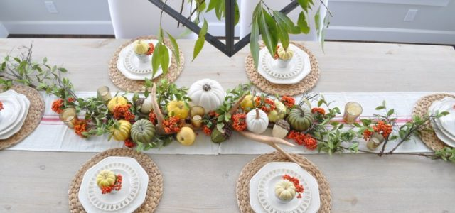 Last Minute Thanksgiving Tablescape