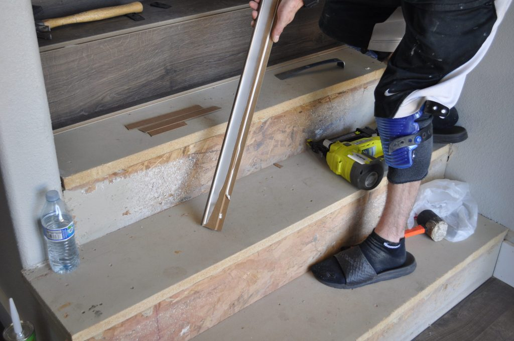 how to add stair nose to laminate flooring