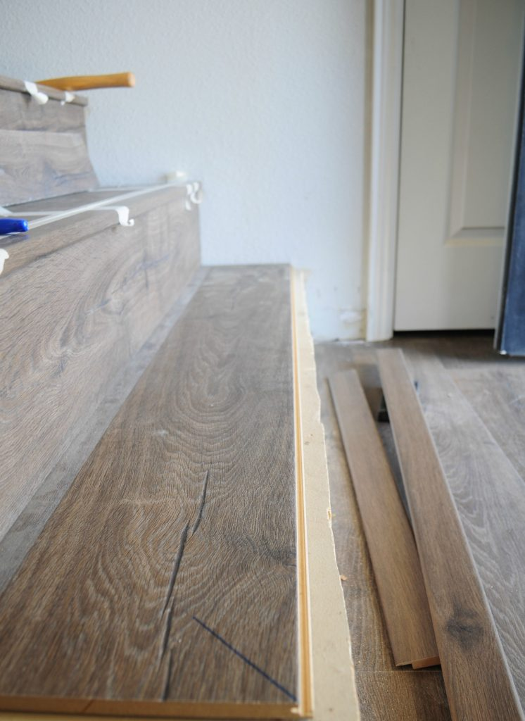 Laminate Flooring On Stairs Transfer that measurement and cut stair nose. stair nose on laminate  flooring