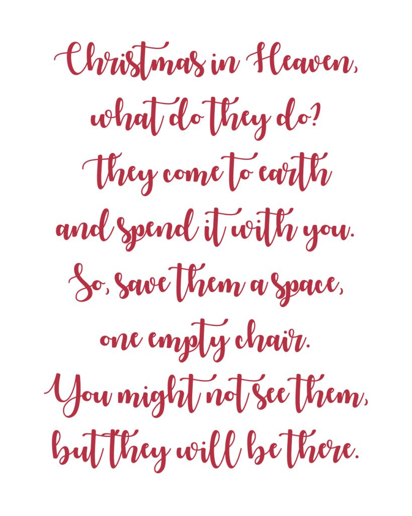 image regarding Christmas in Heaven Poem Printable called Produce a Memory Chair against an Outdated Blouse All Aspects Thrifty