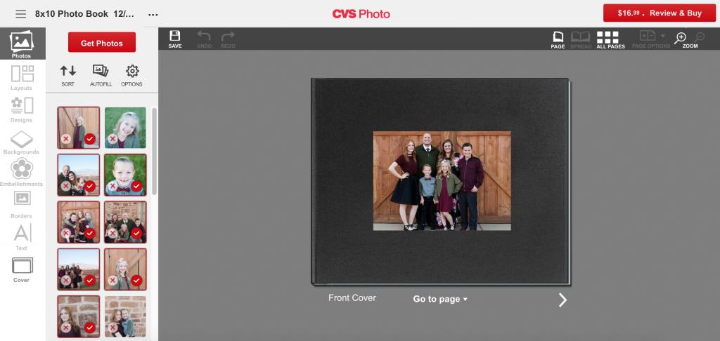 Photo book customization
