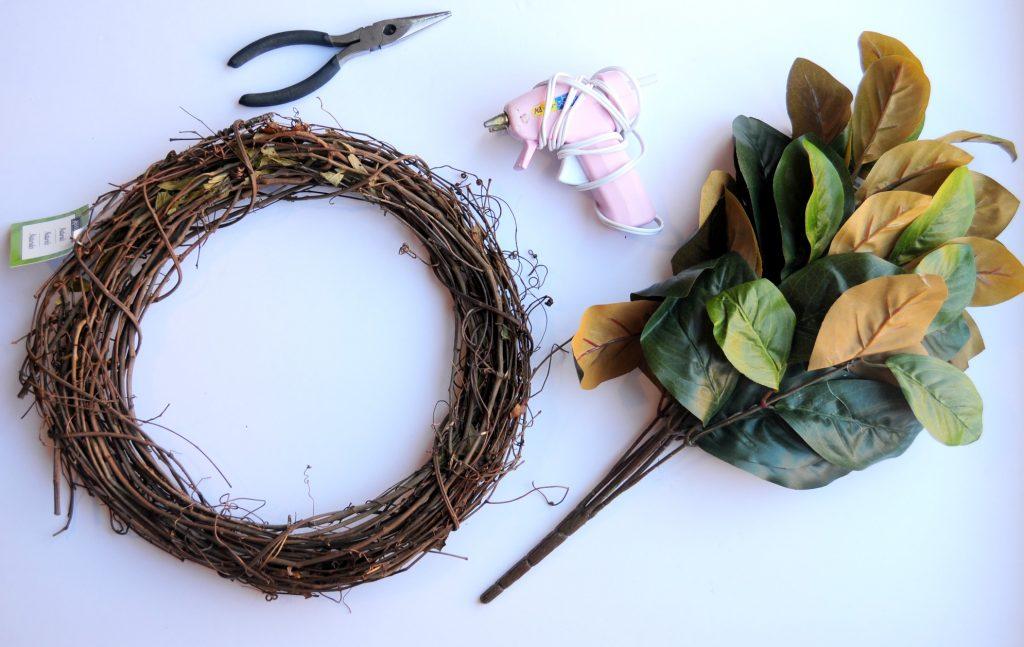 DIY magnolia wreath 1