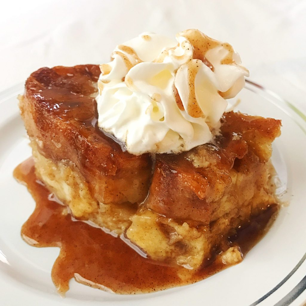 Baked French toast caramel drizzle