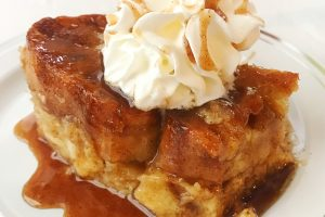 Baked French Toast with Caramel Drizzle