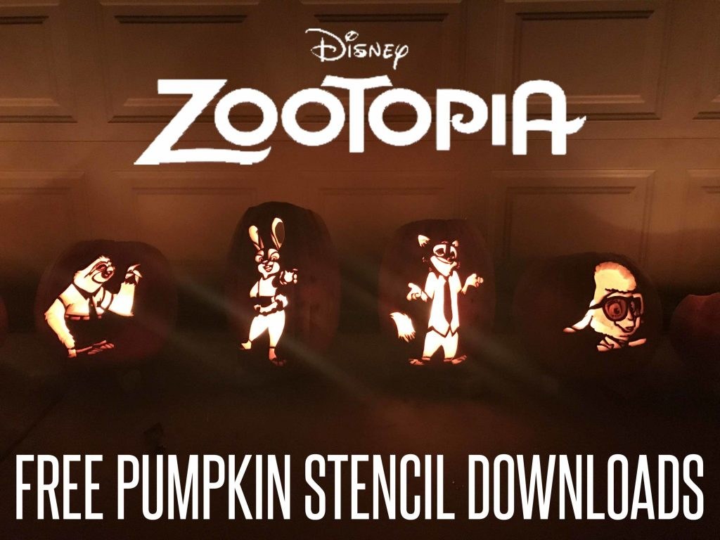 Zootopia Pumpkin Stencils Free Disney Pumpkin Patterns