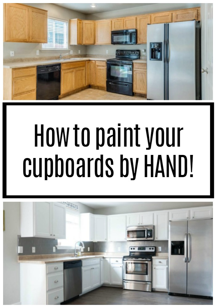 How to Paint your cupboards white by hand