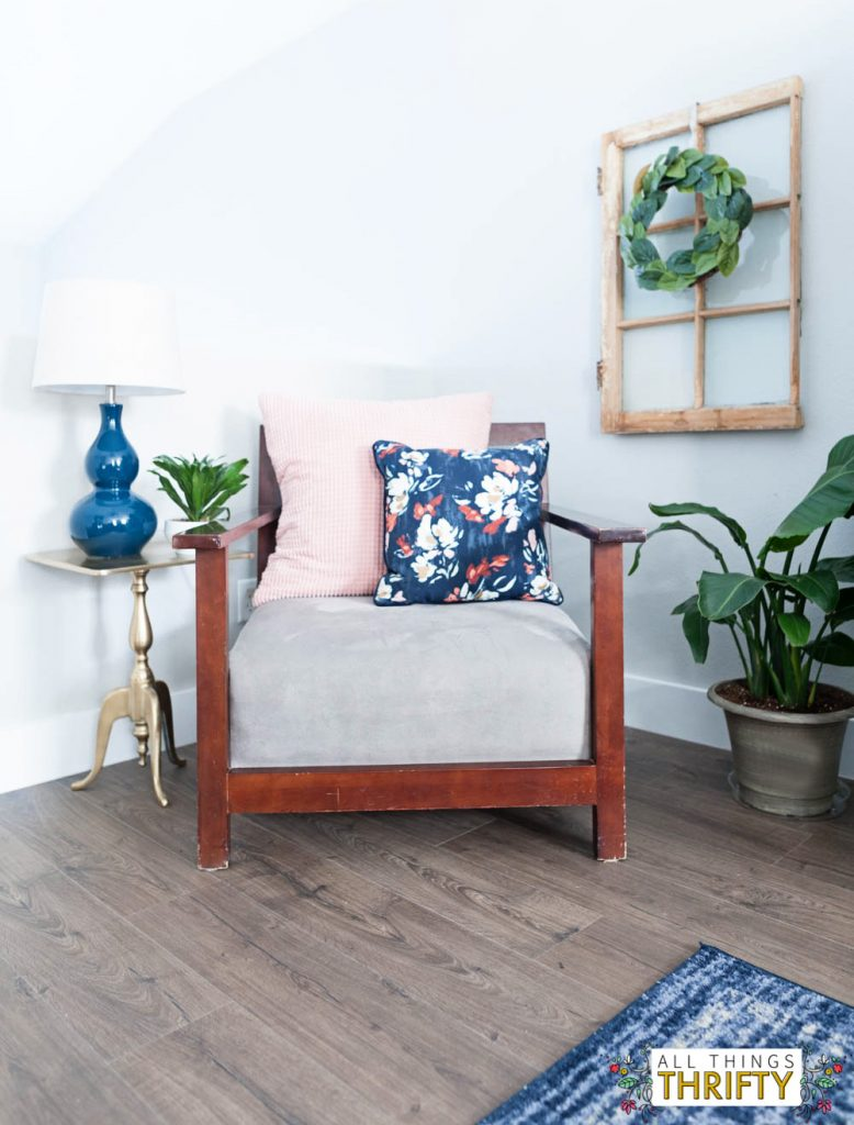 Pink, Navy Blue, and Jade Family Room Decor REVEAL: JO\'s HOUSE | All ...
