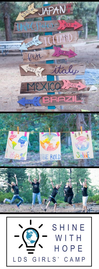 Shine with Hope LDS Girls Camp Ideas
