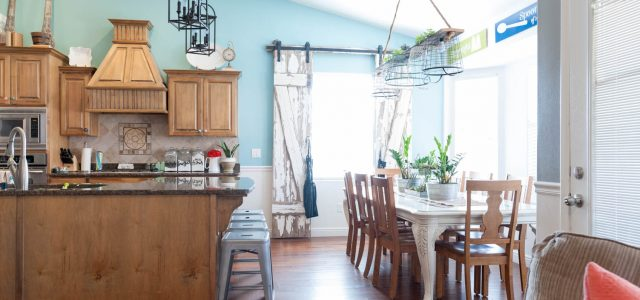 Adding Galvanized Touches to a Colorful Dining Room and Living Room