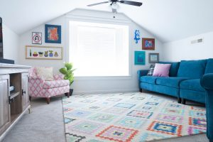 Upstairs Multi Color Play Room and Teen hangout Reveal