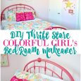 Colorful Girls DIY Bedroom Makeover