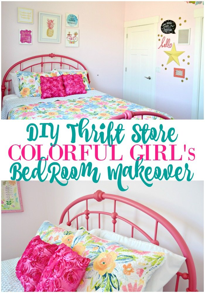 Colorful-Thrift-Store-Bedroom-Makeover
