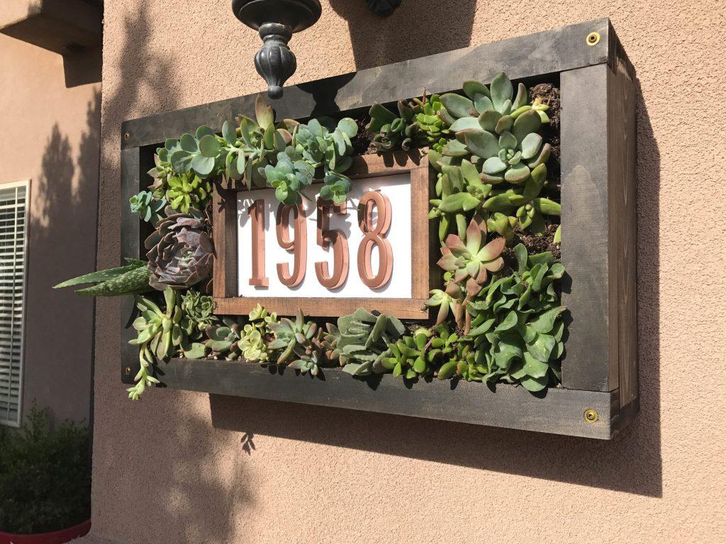 Custom House Numbers Succulent Garden-4
