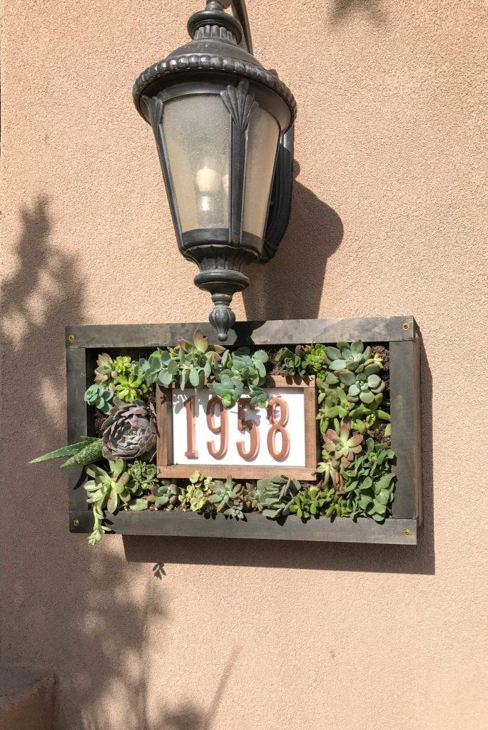 Custom House Numbers Succulent Garden-6