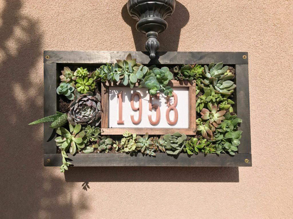 Custom House Numbers Succulent Garden-8