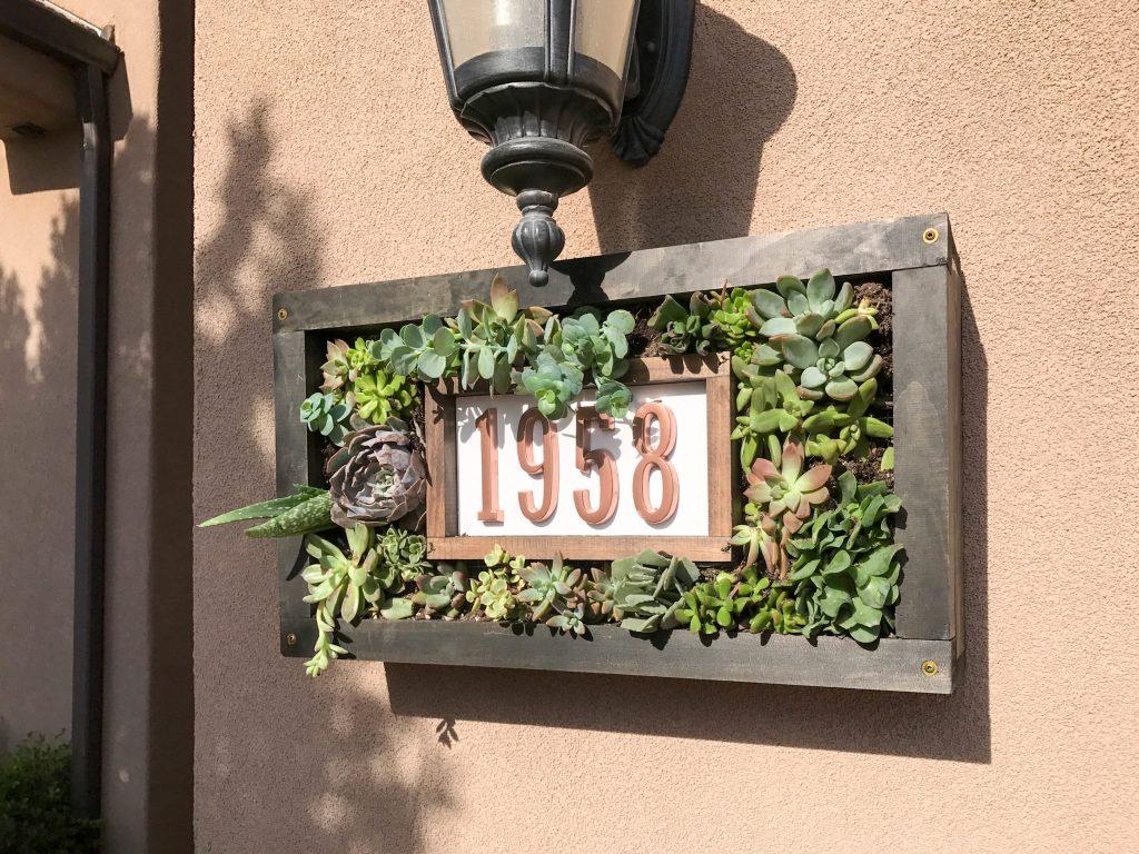Custom House Numbers Succulent Garden-9
