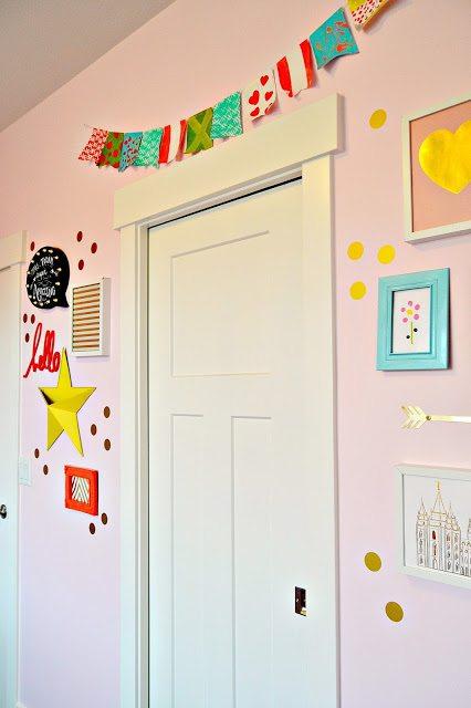 Green-blue-pink-yellow-gold-girls-room-1
