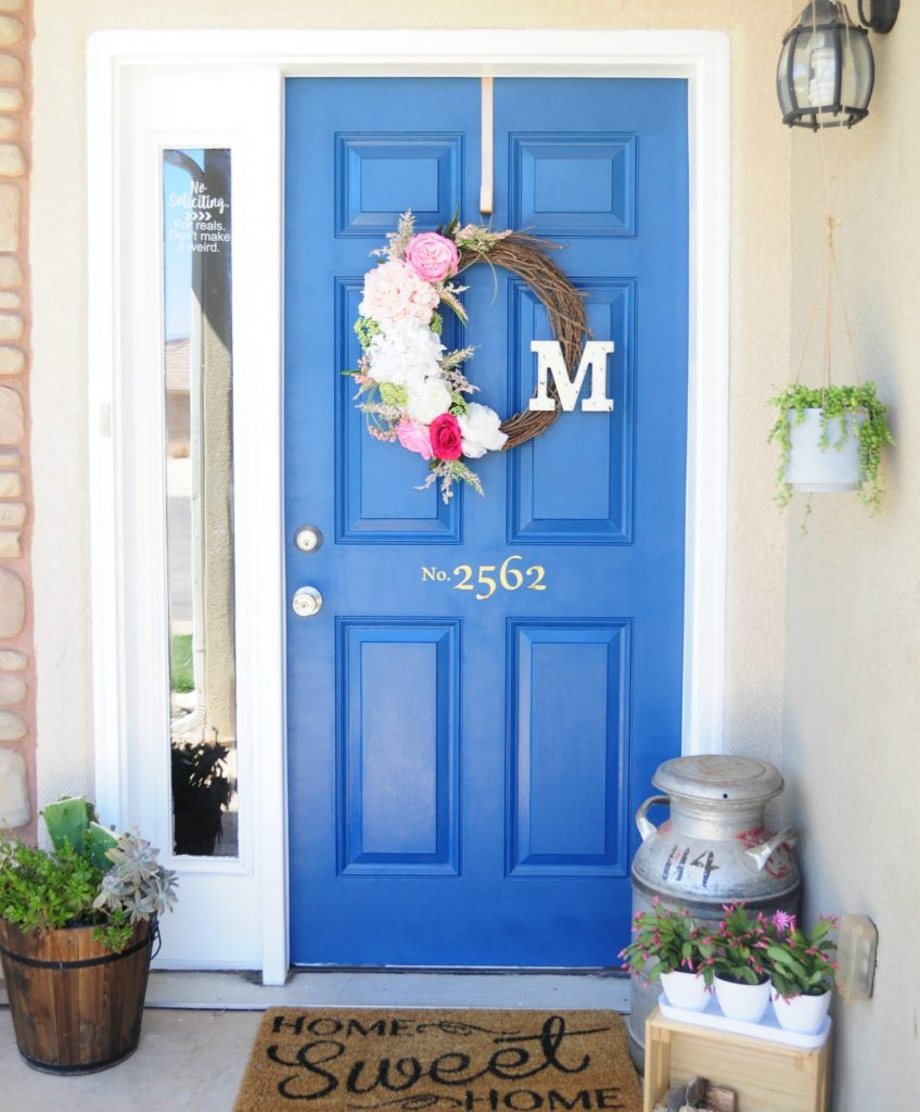 How to paint your front door in a SNAP! | All Things Thrifty