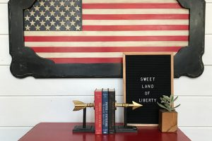 Coffee Table-Turned-Patriotic Wall Art