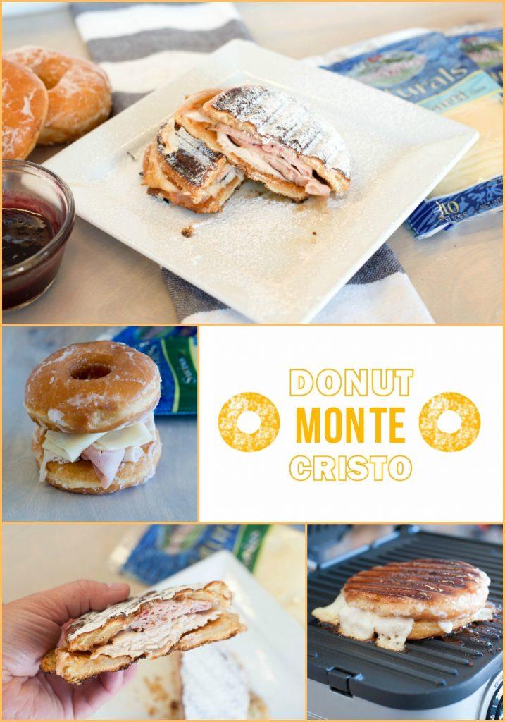Donut Monte Cristo Grilled Cheese Sandwich