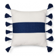Navy Blue, Pink and Teal Living Room Pillow Details
