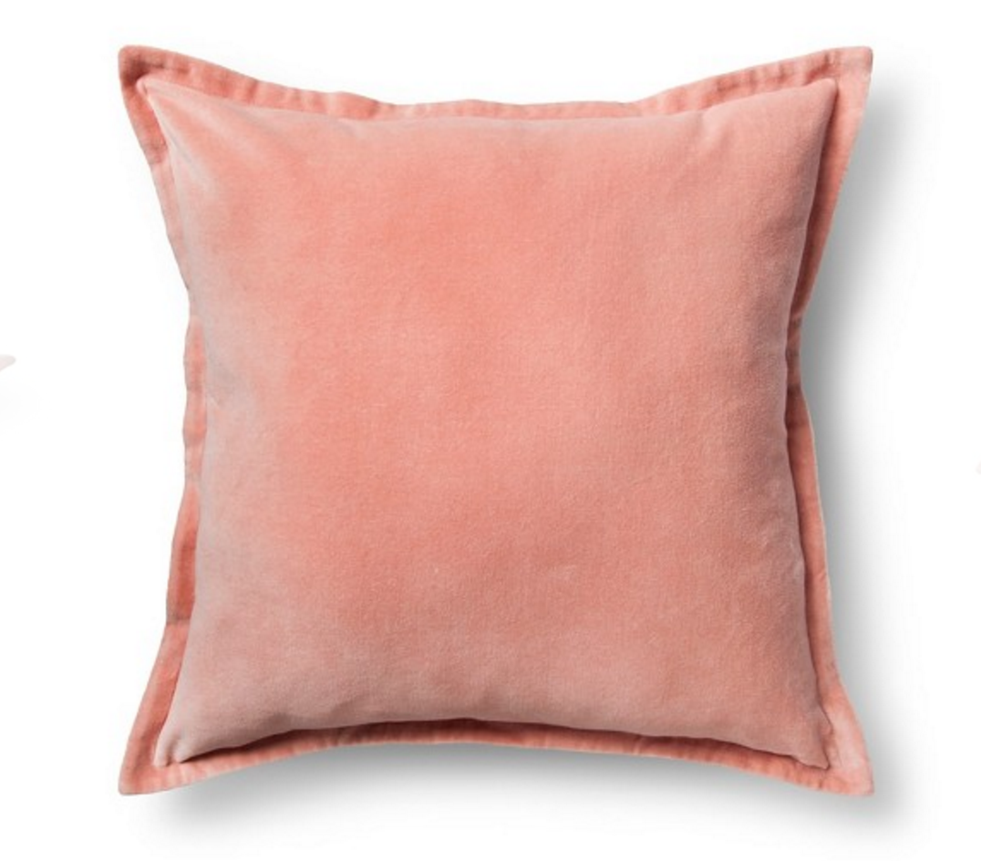 Navy Blue Pink And Teal Living Room Pillow Details