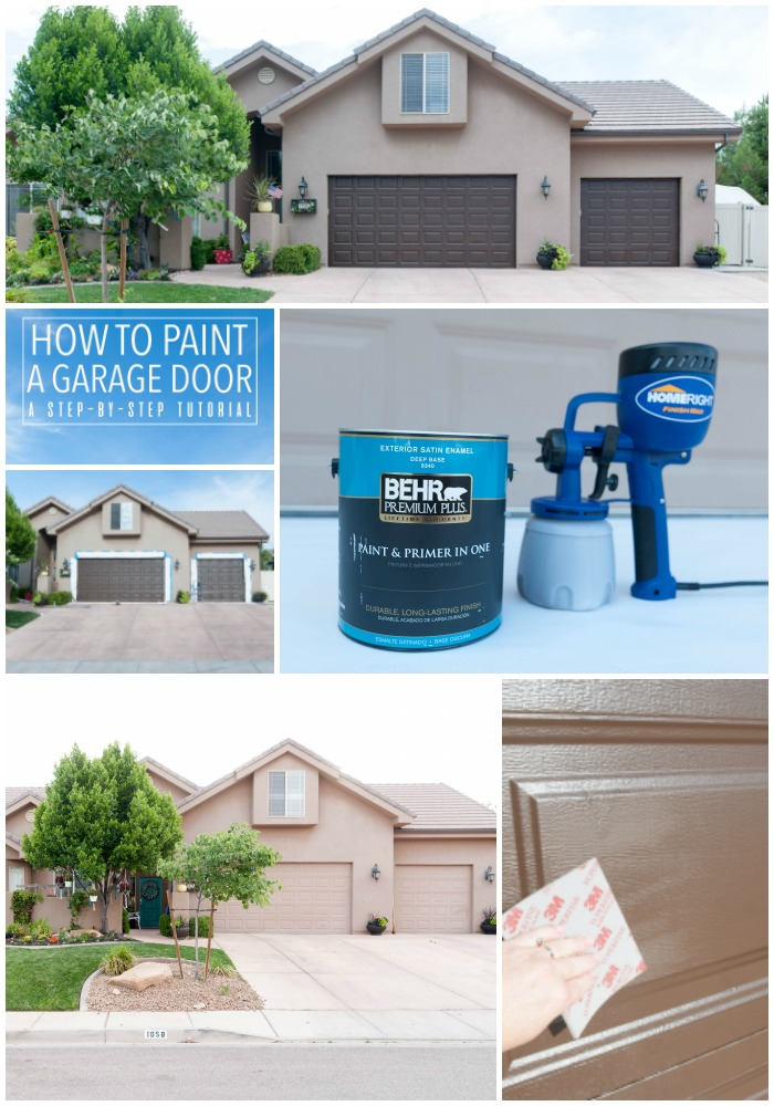 How to paint a garage door step by step