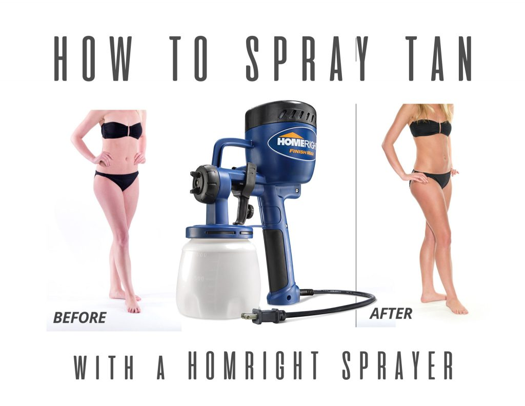 diy spray tan with a paint sprayer