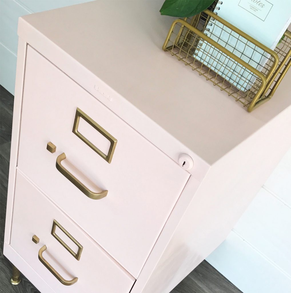 Chalk Painted Filing Cabinet Makeover All Things Thrifty