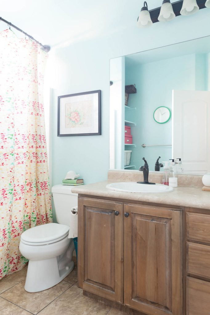 Bathroom Remodel Plan Before All Things Thrifty - Bathroom in a day