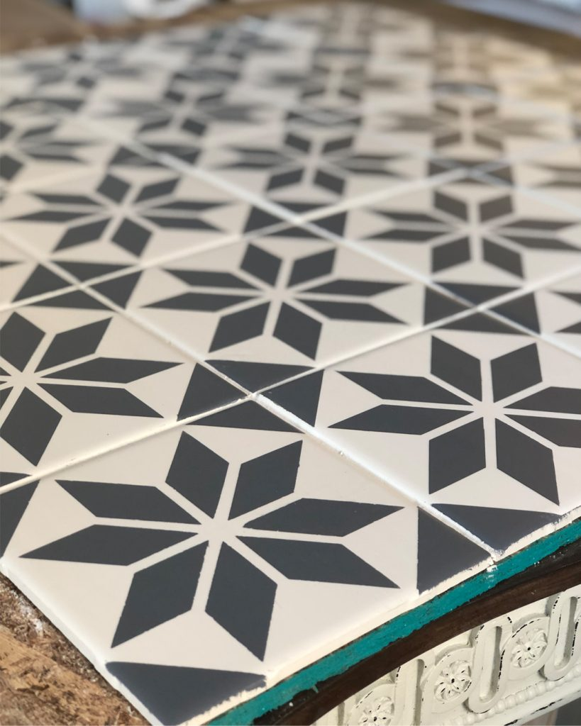 Chalk Painted Tile Tutorial All Things Thrifty